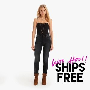 MOTHER High Waisted Looker Jeans Black 25 #1360